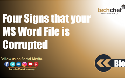 Four Signs that your MS Word File is Corrupted