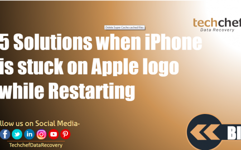5 Solutions when iPhone is stuck on Apple logo while Restarting